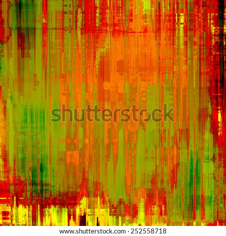 Old style detailed texture - retro background with space for text or image. With different color patterns: yellow (beige); brown; green; red (orange) - stock photo