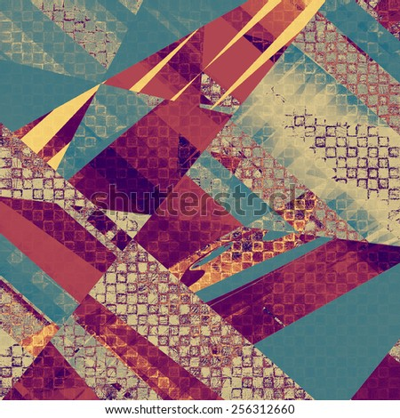 Old style detailed texture - retro background with space for text or image. With different color patterns: yellow (beige); brown; purple (violet); blue - stock photo