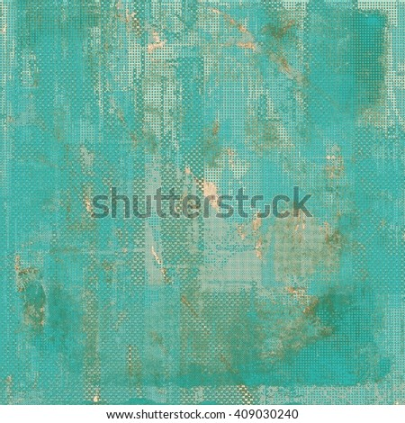 Old-style dirty background with textured vintage elements and different color patterns: yellow (beige); brown; blue; gray; cyan - stock photo