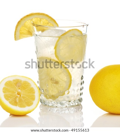 Old style glass of lemonade