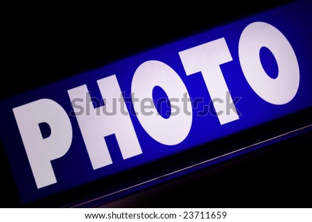 Old style neon sign Photo