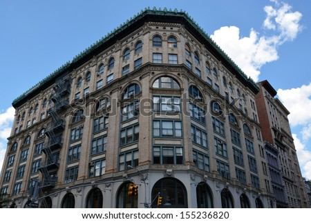 Old style NYC house - stock photo