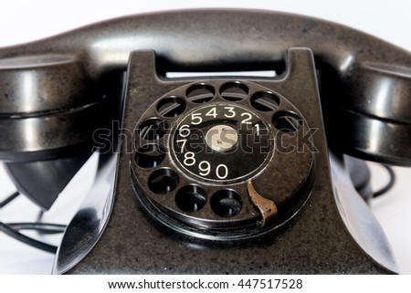 Old Style Phone - stock photo