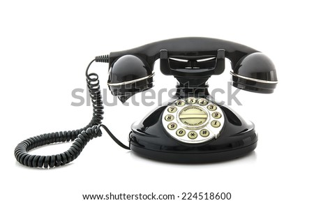 Old Style phone on a White Background
