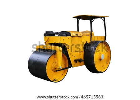 Old style Steamroller white background