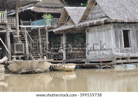 Old style Thai house in Thailand
