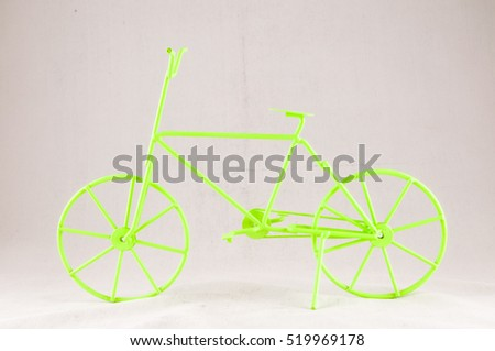 Old Style Vintage Handmade Green Ancient Bicycle