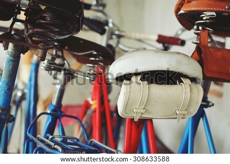 Old stylish bicycle - stock photo