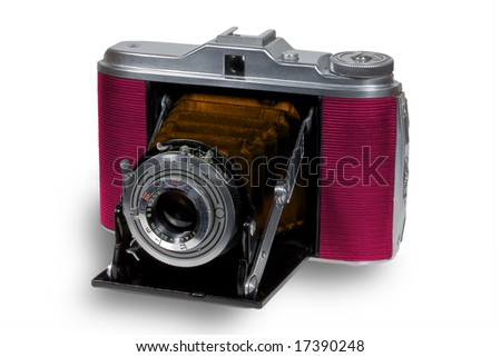 Old stylized folding camera