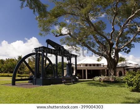 Old sugar cane factory - the museum on Mauritius