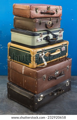 Old suitcases.