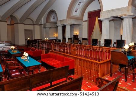Old Supreme Court Hall, US Capitol, Washington, DC - stock photo