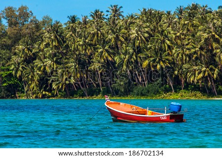 Old TAXI boat  - stock photo