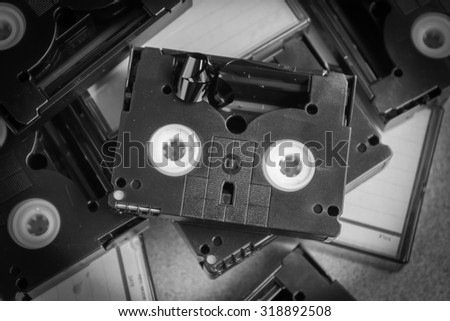 old technology mini DV tape recording