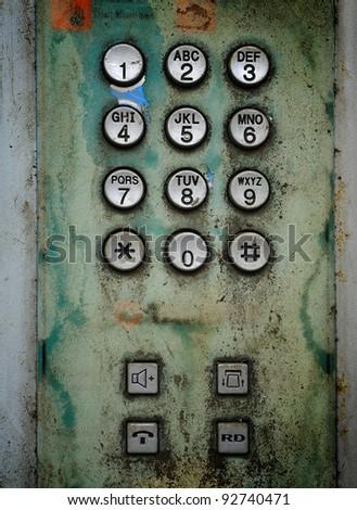 old telephone Keypad - stock photo