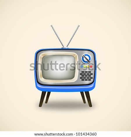 old television ,retro and vintage style