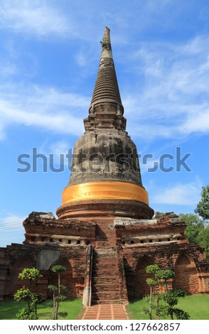 Old temple in Ayutthaya, Thailand.