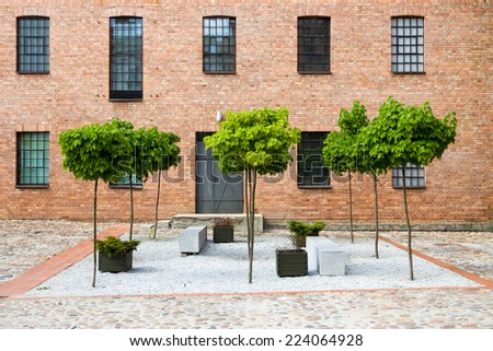 Old textile factory renevad as a museum - stock photo
