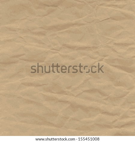 Old Texture of crumpled craft paper, background. Vintage Raster version. The original is also available in my gallery - stock photo
