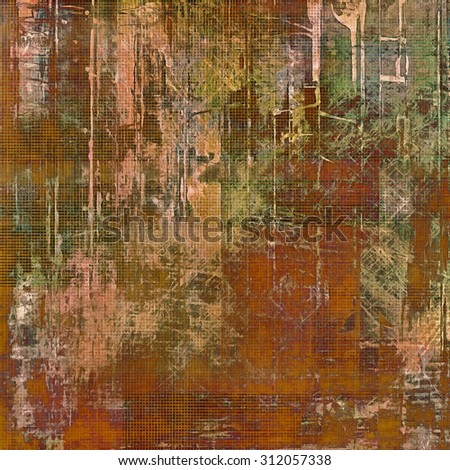 Old Texture or Background. With different color patterns: yellow (beige); brown; green; purple (violet) - stock photo