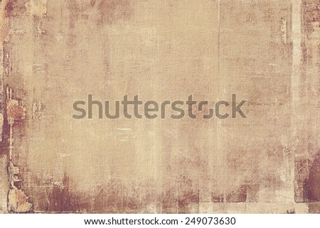 Old texture with delicate abstract pattern as grunge background. With different color patterns: yellow (beige); brown; gray - stock photo