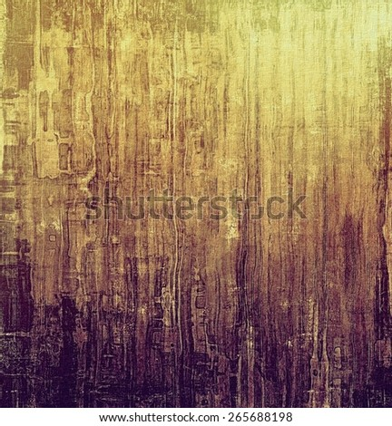Old texture with delicate abstract pattern as grunge background. With different color patterns: yellow (beige); brown; gray; purple (violet) - stock photo