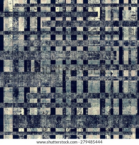 Old texture with delicate abstract pattern as grunge background. With different color patterns: gray; black; blue - stock photo
