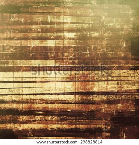 Old texture with delicate abstract pattern as grunge background. With different color patterns: yellow (beige); brown; gray; black - stock photo