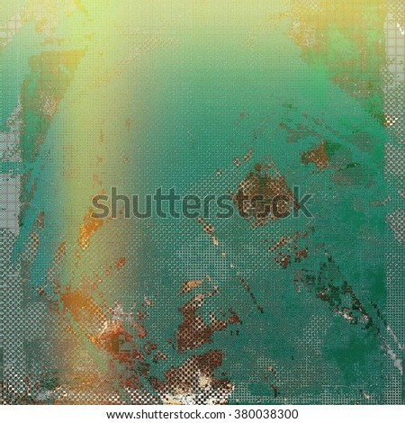 Old texture with delicate abstract pattern as grunge background. With different color patterns: yellow (beige); brown; green; gray; blue - stock photo