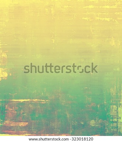 Old Texture. With different color patterns: yellow (beige); brown; green; cyan - stock photo