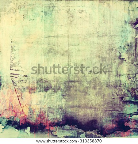 Old Texture. With different color patterns: yellow (beige); purple (violet); cyan; green - stock photo