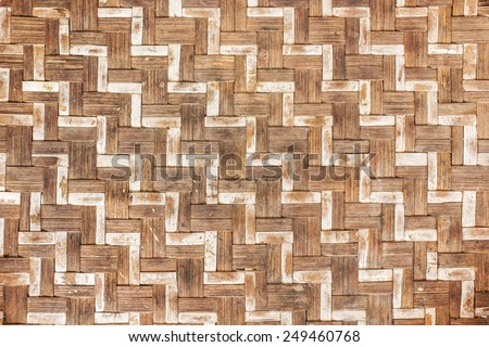 Old Thai pattern bamboo handicraft. - stock photo