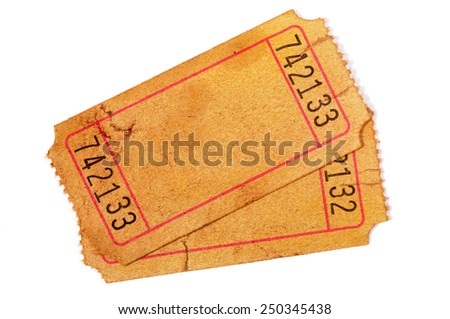 Blank Raffle Ticket Stock Images, Royalty-Free Images & Vectors