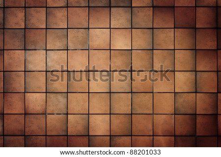 Old tile wall texture background - stock photo