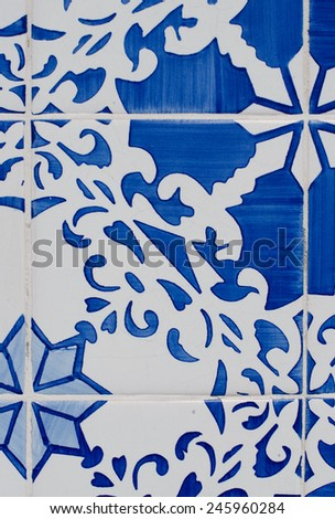 Old tiles detail abstract pattern. - stock photo