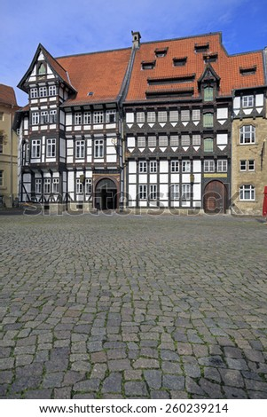 Old timbered houses in Braunschweig, Germany - stock photo