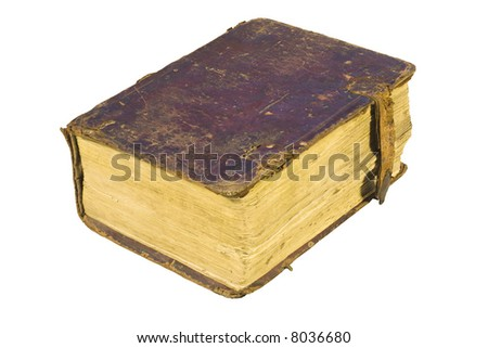 Old-time books (With Clipping Path) - stock photo