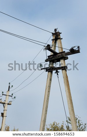 old time power line