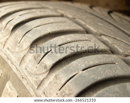 Old tire         - stock photo
