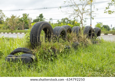 Old Truck Tires On Playground Kids Stock Photo 52629259
