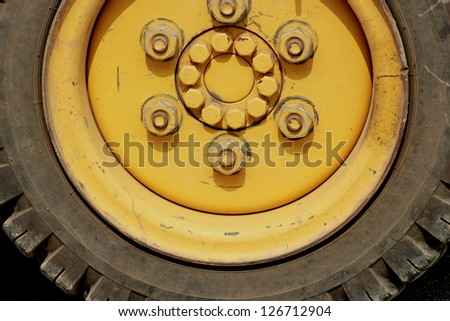 Old tires. - stock photo
