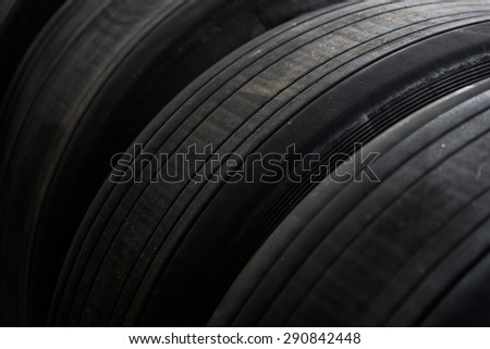 Old tires - stock photo