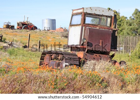 Old tool in the Antelope Valley California Poppy Reserve
