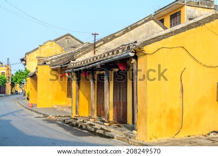 Old town at Vietnam - stock photo
