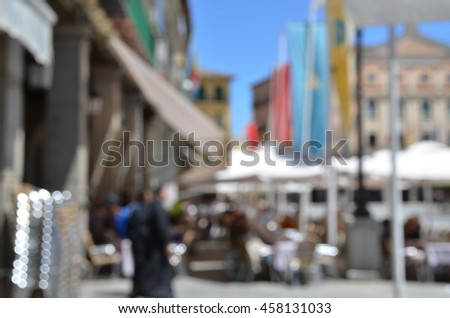 old town blurred background