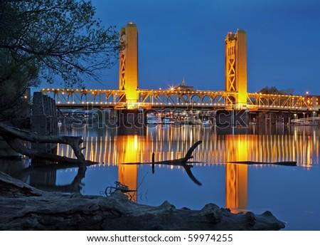 Old Town Bridge - stock photo