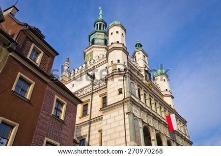 Old town hall in Poznan - Poland - stock photo