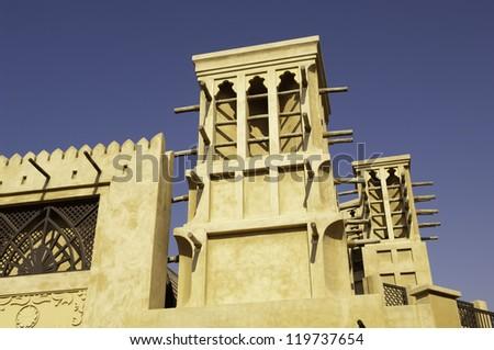 old town houses in Dubai, United Arab Emirates - stock photo