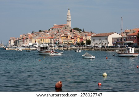 Old town in Croatia, Adriatic coast,
