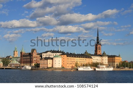 Old town in Stockholm, Sweden.